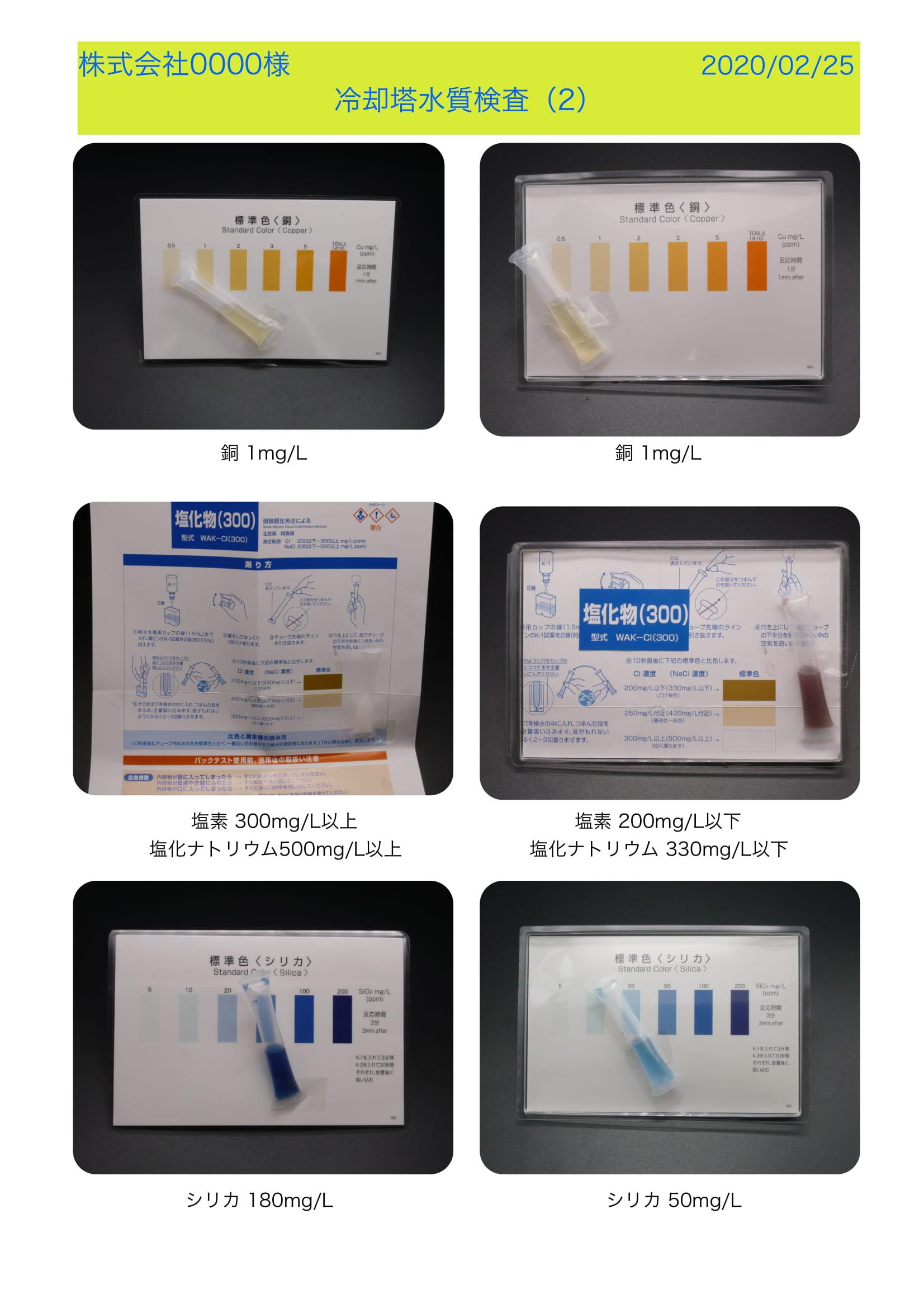 株式会社0000様水質検査(2)-1